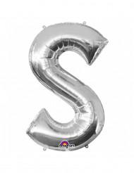 Ballon aluminium gigant bogstav S sølv 53 x 88 cm
