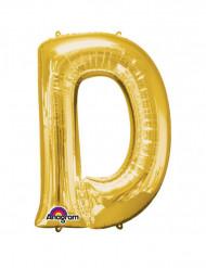 Ballon aluminium gigant bogstav D guld 60x 83 cm