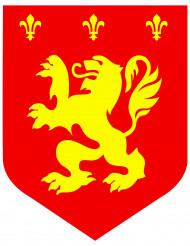 Middelalder løve rød cut-out 30 cm