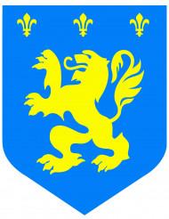 Middelalder løve blå cut-out 30 cm