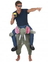 Kostume mand på elefantryg til voksne