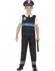 Kostume politi i sort og hvid til børn