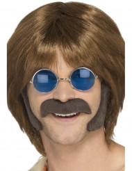 Hippiekit bakkenbarter og moustache