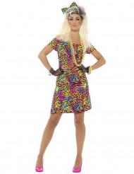 Kostume neon leopard 80´er style