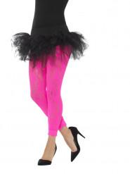 Blonde leggings neon lyserøde