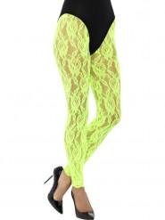 Leggings selvlysende grøn blonde