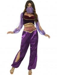 Kostume arabisk prinsesse i violet