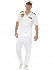 Kostume kaptajn i hvid