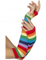 Lange handsker multifarvet