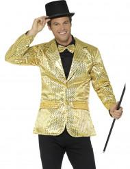 Jakke i guld glimmer til mænd
