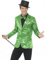 Jakke i grøn glimmer til mænd