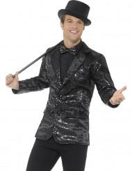 Disco jakke i sort paillet til mænd