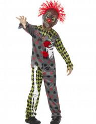 Kostume klovne skelet til børn Halloween