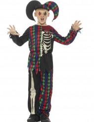 Kostume skelet harlekin Halloween