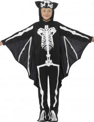 Skelet flagermuskostume til børn