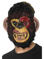 Zombie abe - Halloween maske til voksne