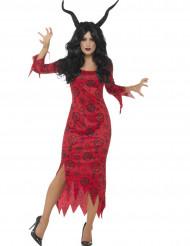 Kostume rød djævel Halloween