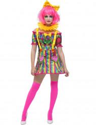 Kostume patchwork klovn til kvinder