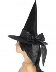 Sort heksehat med sløjfe til kvinder - Halloween