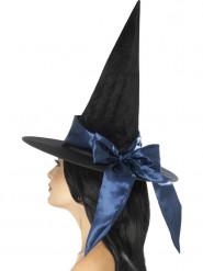 Heksehat med blå sløjfe Halloween