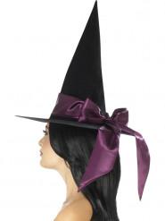 Heksehat med violet sløjfe Halloween