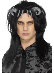 Sort paryk dæmonisk væsen til voksne Halloween