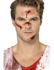 Falske plastrer med blod - Halloween sminke til voksne