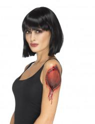 Midlertidig lynlås tatovering - Halloween tilbehør