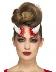 Latex Djævel Horn Halloween til voksne