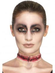 Falsk sår til halsen - Halloween sminke
