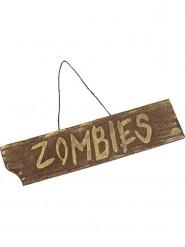 Skilt zombie Halloween 40x10 cm