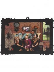 Dekoration familieportræt 44x30 cm Halloween
