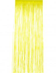 Dørgardin glimtende gult