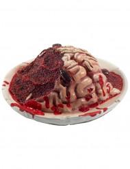 Dekoration tallerken med hjerne Halloween
