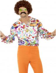 Skjorte satin hippie 60