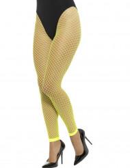 Net leggings i neon gul til voksne