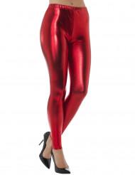 Leggings metallisk rød til voksne