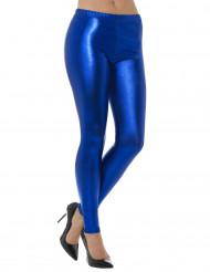 Leggings metallisk blå til voksne