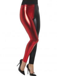 Leggings metalliske rød og sort til kvinder