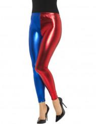 Leggings metallisk rød og blå til kvinder