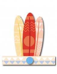 6 Indianer hovedbeklædning pastelfarve