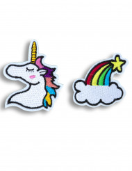 Brocher 2 stk unicorn
