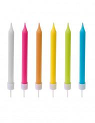 10 fødselsdagslys farvede