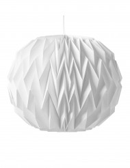 Hvid origami kugle 28x37 cm