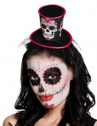 Minihat til kvinder - Dia de los Muertos