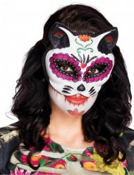 Dia de los Muertos Maske Farverig Kat til kvinder
