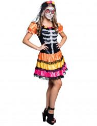 Kostume skelet Dia de los Muertos