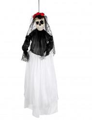 Dekoration skelet brud 90 cm Dia de los Muertos