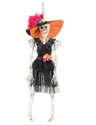 Dekoration hængende skelet Dia de los Muertos 40cm