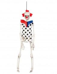 Dekoration hængende skeletklovn 40 cm Halloween